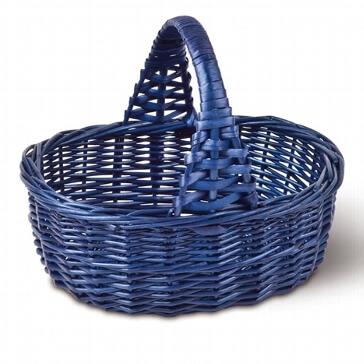 """Blumenkörbchen """"Weide"""" in Blau"""