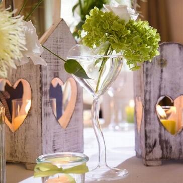 Blumenvase Herz am Stiel dekoriert