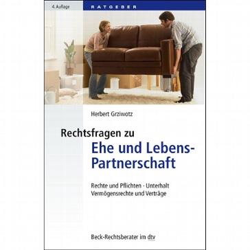 """Buch """"Rechtsfragen zu Ehe und Lebenspartnerschaft"""""""