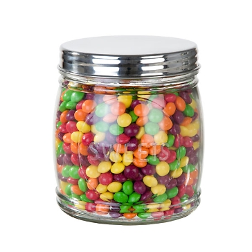 Dekoglas für die Candybar zur Hochzeit