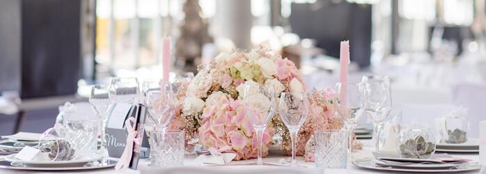 Hochzeitsdeko In Zartem Rosa Weddix De