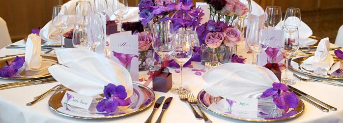 Tischdeko Fur Die Hochzeit Und Hochzeitsdeko In Lila Weddix De