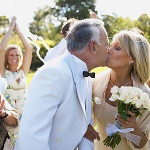 Goldene Hochzeit Paar