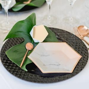 Partygeschirr Hochzeit marmor