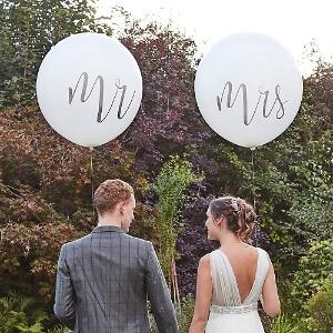 Riesenballons Mr und Mrs