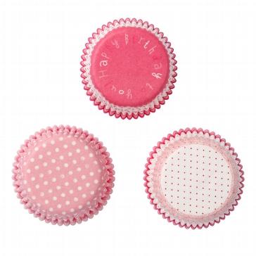 Cupcake Förmchen mit drei Designs in Rosa
