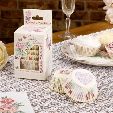 Cupcake-Förmchen im romantischen Design