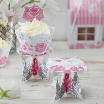 Cupcake Ständer Romantic Rose - Schöne Hochzeitsdeko für die Candy Bar