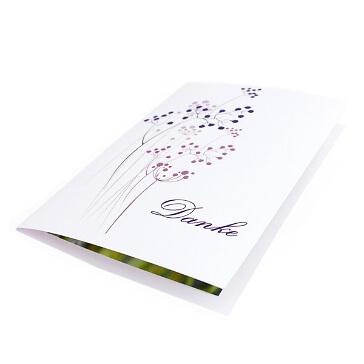 Dankeskarte Purple Passion zur Hochzeit - Lila