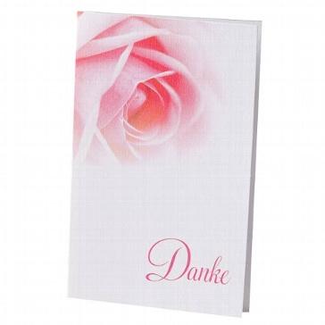 """Dankeskarte """"Tanja"""" mit Rosenmotiv für die Hochzeit"""