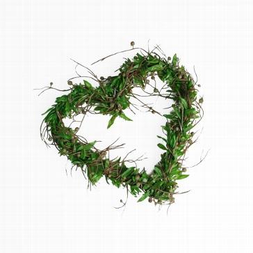 Deko-Herz mit Blättern mittel
