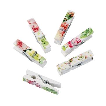 """Deko-Klammern """"Blütentraum"""", 12 St. - hübsche Deko-Klammern für die Tischdekoration"""