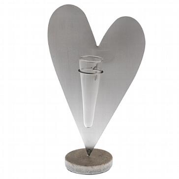 Dekoständer Herz aus Metall - für Blumen zur Hochzeit