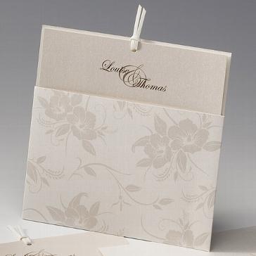Hochzeitskarte mit Blumenmotiv