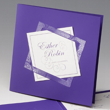 "Einladungskarte ""Dahilia"""