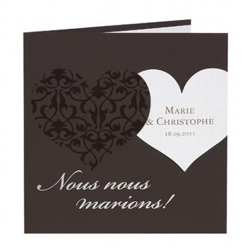 """Einladungskarte """"Eleonora"""" für die Hochzeit"""