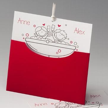 """Einladungskarte """"Emilia"""" zur Hochzeit"""