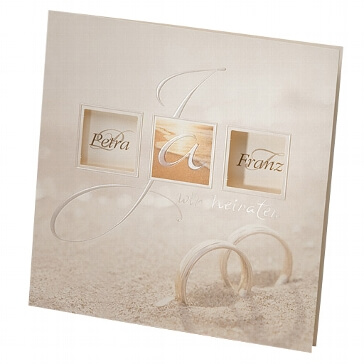 Einladungskarte Glenna zur Hochzeit