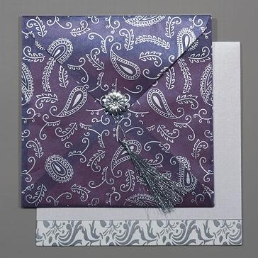 """Orientalische Hochzeitskarte """"Kashmira"""", lila"""