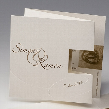 """Einladungskarte """"Latoya"""" - raffinierte Hochzeitseinladung"""