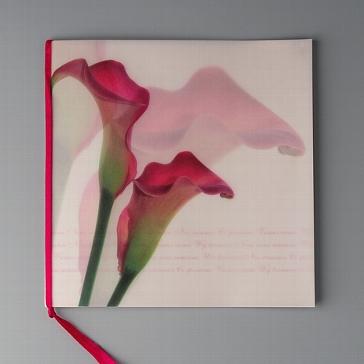 Einladungskarte Blume Rosa