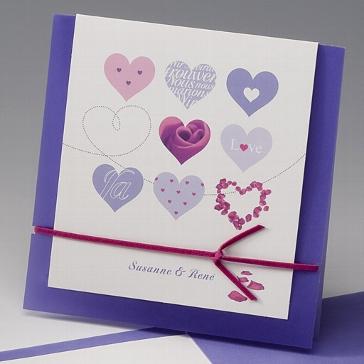 """Einladungskarte """"Lourdes"""" - jugendliche Hochzeitseinladung"""