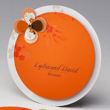 """Einladungskarte """"Petula""""- originelle Hochzeitskarte"""