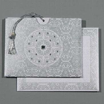 """Orientalische Hochzeitskarte """"Raja"""", weiß"""
