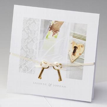 """Einladungskarte """"Tamara"""" - Romantik zur Hochzeit"""