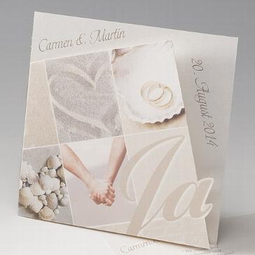 """Einladungskarte """"Xenia"""" - romantische Einladung zur Hochzeit"""