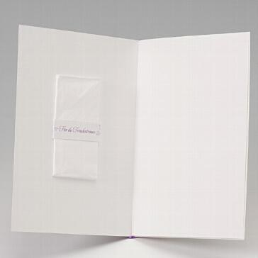 Einlegeblatt für Kirchenhefte und Hochzeitskarten Creme in schmal
