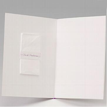 Einlegeblatt A5 für Kirchenhefte und Hochzeitskarten in Creme