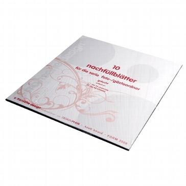 Ersatzblätter für Gästebücher Toulouse schwarz