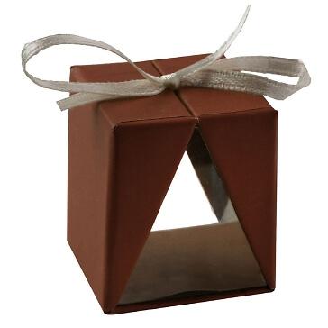 Faltschachtel Cadeau, braun, 4 St. - moderne Faltschachtel als Gastegschenk