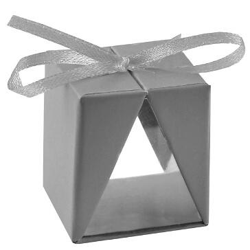 "Faltschachtel ""Cadeau"", grau, 4 St. - modernes Gastgeschenk zur Hochzeit"