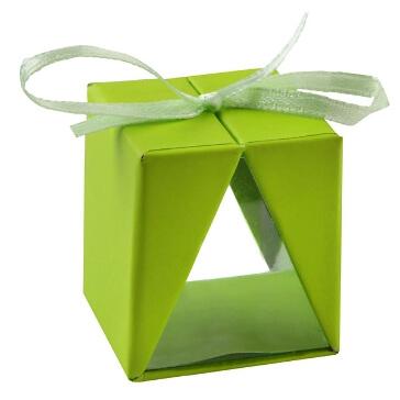 Faltschachtel Cadeau, grün, 4 St. - grünes Gastgeschenk