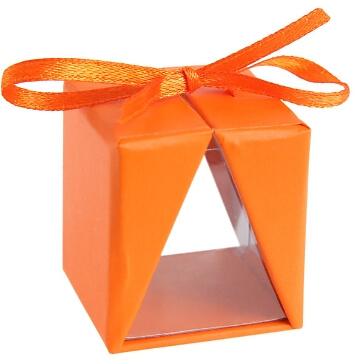 """Faltschachtel """"Cadeau"""", orange, 4 St. - Farbenfrohes Gastgeschenk"""