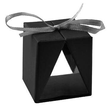 Faltschachtel Cadeau, schwarz, 4 St. - Gastgeschenk in schwarz