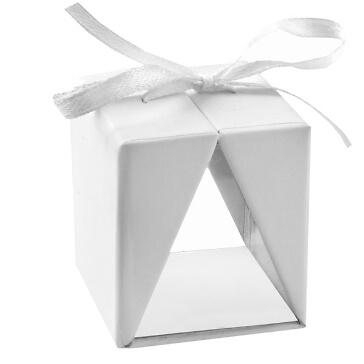 Faltschachtel Cadeau, weiß, 4 St. - hübsche Faltschachtel in weiß