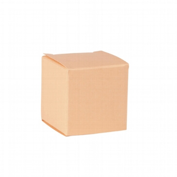 Faltschachtel Mini Würfel aprikose - für Gastgeschenke zur Hochzeit