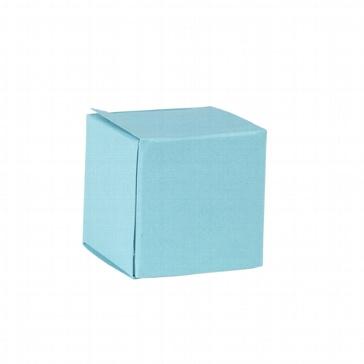 Faltschachtel Mini Würfel hellblau - Gastgeschenk für Hochzeit