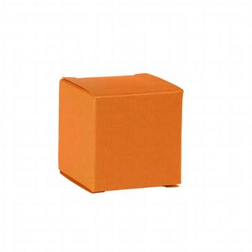 Faltschachtel Mini Würfel orange - Gastgeschenk zur Hochzeit
