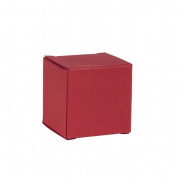 Faltschachtel Mini Würfel rot - Gastgeschenk für Hochzeit
