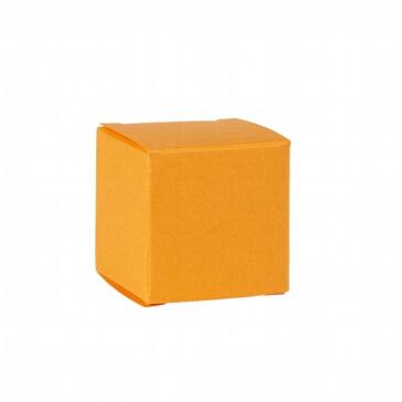 Faltschachtel Mini Würfel gelb - Gastgeschenk für Hochzeit