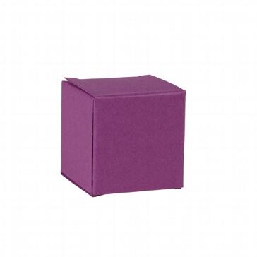 Faltschachtel Mini Würfel violett - für Gastgeschenke zur Hochzeit