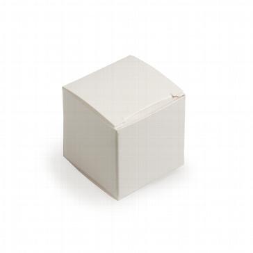 Faltschachtel Mini Würfel weiß glänzend