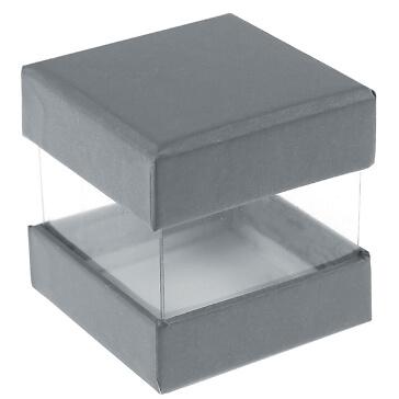 """Faltschachtel """"Pure"""", grau, 6 St. - hübsche Faltschachtel in grau"""