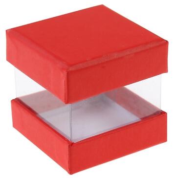 Faltschachtel Pure, rot, 6 St. - hübsche Faltschachtel