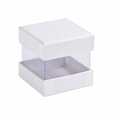Faltschachtel Pure weiß 6 St. - für Gastgeschenk für Hochzeit