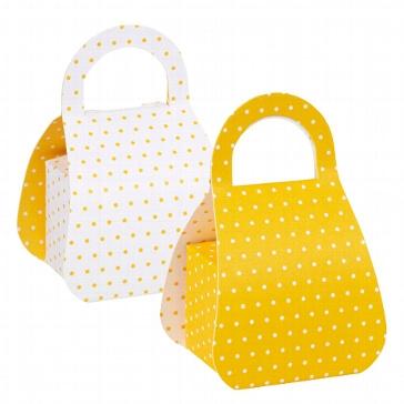 Faltschachtel Sweet 50s gelb-weiß